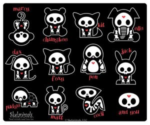 "Tapis de souris ""Family Portrait"" (Skelanimals)"
